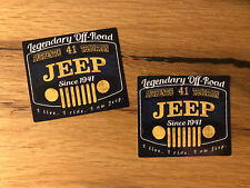 2x Jeep 1941 Aufkleber SUV 4x4 Vintage Offroad Allrad Oldtimer USA Willys #365