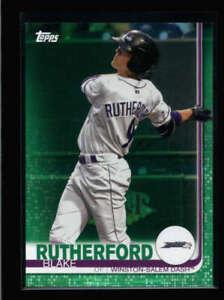 BLAKE RUTHERFORD 2019 TOPPS PRO DEBUT #123 GREEN ROOKIE RC #36/99 AZ3292