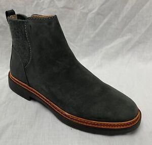 BNIB Clarks Ladies Trace Fall Dark Grey Nubuck Leather Chelsea Boots