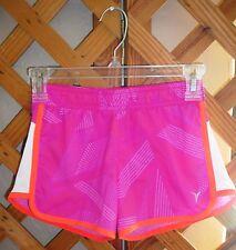 OLD NAVY SHORTS~Active~Elastic Waist~Lined~Pink & Orange~Mesh Sides~Girls Size M