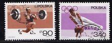 Briefmarken aus Polen mit Motiven von den Olympischen Spielen