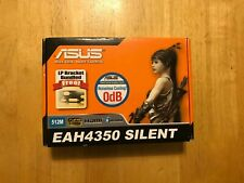 ASUS EAH4350 RADEON HD 4350 SILENT 512MB VIDEO CARD - COMPLETE IN BOX!