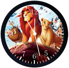 Lion King Black Frame Wall Clock Nice For Decor or Gifts E120