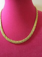 14K YELLOW GOLD DOMED MIRROR BYZANTINE NECKLACE NEW 20 INCH 15.2 GRAMS