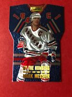Mark Messier 1996-97 Pinnacle - By the Numbers #12 Mark Messier New York Rangers