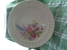 "EDWIN KNOWLES 'SPRING BOUQUET' 10 1/4"" ROUND PLATE 39-7 FLUTED CIRCA 1941 MINT"
