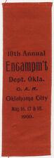 GAR 1900 OKLAHOMA CITY DEPT ENCAMPMENT RIBBON