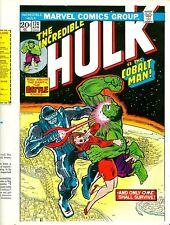 Incredible Hulk 174 COVER PROOF Hulk vs Cobalt Man 1974 UBER-RARE PRODUCTION ART