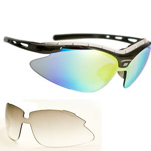 Radbrille Fahrradbrille mit Schweiß Stirnpolsterung  100% UV Schutz Gläser