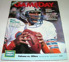 1984 HOUSTON OILERS vs ATLANTA FALCONS NFL PROGRAM Dan Marino on cover TN TITANS