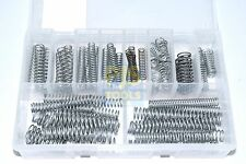 Assorted selection kit box of 70 zinc plated steel metric compression springs
