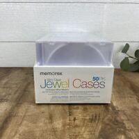 50 New Memorex Single Slim All Clear CD DVD Jewel Case Box [FREE SHIPPING]