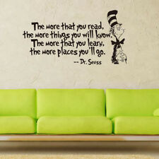 Home Decors DR SEUSS THE MORE THAT YOU READ YOU KNOW Saying Quote Wall Sticker