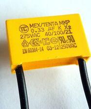 0.33uF 275v X2 40/100/21 MEX TENTA Safety Capacitor flexi wire lead AD–ref832a