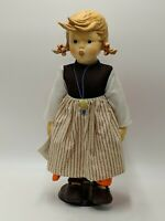 "M.J.HUMMEL DOLL BIRTHDAY SERENADE GIRL 14.75"" BOX COA 1983 GOEBEL W.GERMANY #511"