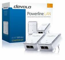 DEVOLO dLAN 500 DUO STARTER Kit PowerLAN D-LAN DLAN Powerline mit 500 Mbit/s