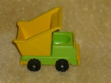 Fisher Price Little People Vintage Lift and Load Green & Yellow Dump Truck