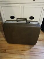 "Royal Traveller ~ Medalist Brown Hard Suitcase Luggage 20"" Shwayder Bros"