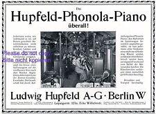 Klavier Hupfeld Reklame 1914 Zentral Cordoba Eisenbahn Argentinien Speisewagen