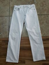 VTG Levi's 501 Button Fly Ivory Beige Color JEANS USA Made 34x32 Meas 31x31