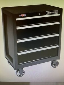 CRAFTSMAN 2000 Series 26-in 4-Drawer Tool Cabinet (Black) - 721615314756