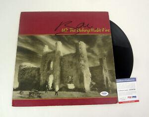 Bono U2 Signed Autograph The Unforgettable Fire Vinyl Record Album PSA/DNA COA