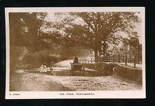 Warwicks Warwickshire KENILWORTH Ford pony&trap+children c1900s RP PPC Kingsway