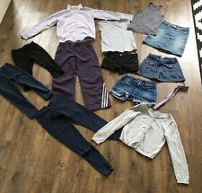 13 Teile Gr 134/140 Jeans Shorts Tops Shirts Cardigan Adidas Anzug Leggings Rock