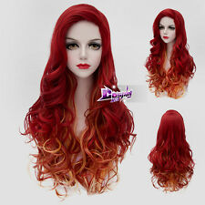 Red Mixed Yellow 75CM Lolita Wig for Jessica Rabbit Heat Resistant Cosplay Wig
