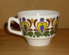 Scherzer Bavaria 1 Kaffeetasse, weiß mit mehrfarbigen Dekor