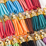 30 Pcs Charm Suede Leather Tassel For Keychain Pendant Jewelry DIY Crafts Set UK