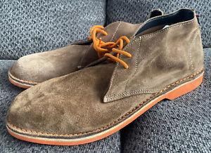 Veldskoen Men's Heritage Orange Sole Brown Suede Chukka Boots 13 Retail $150