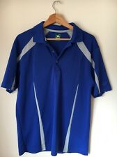 """2 Under Size m 40"""" Polyester Blue Polo T-shirt <T7434"""