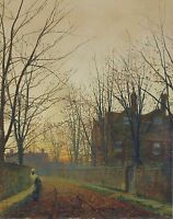 "Grimshaw, Late October, 1882, autumn, antique home decor, 20""x16"" Art Print"