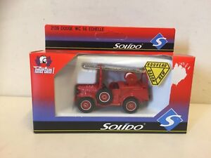 SOLIDO / TONER GRAM I - DODGE WC 56 ECHELLE - FIRE SERVICE  - SCALE.MODEL - 2139