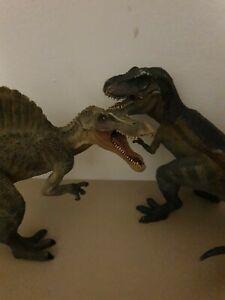 Damaged Papo Dinosaurs. Tyrannosaurs Rex & Spinosaurus