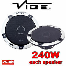 "VIBE 16.5cm 240W car front door speakers 6.5"" SLICK NEW"