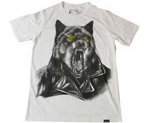 Rook Wolf Jacket Heather Tee (L) White