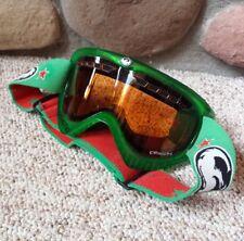 VTG Dragon Casualties Goggles Ski Snowboard Winter Sports Amber Lens Red Green