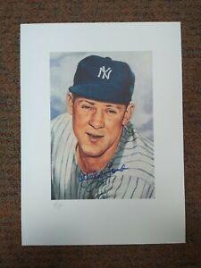 12 x 15 Printer's Proof WHITEY FORD Marriott Corporation LE Autograph Auto PL1