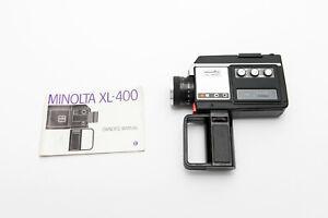 Vintage Minolta XL-400 Super 8 Movie Cine Camera- Tested & Working