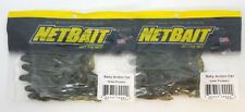 "2 PACKS OF NETBAIT BABY ACTION CAT FISHING LURES - 4"" GREEN PUMPKIN 8 PER PACK"