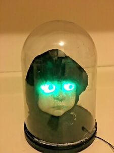 Halloween PROTOTYPE prop GEMMY ANIMATED BABY HEAD IN DOME. Rare floor sample.