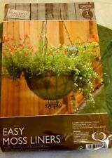 """2 PK EASY MOSS LINERS FOR HANGING BASKETS(Suitable For Baskets 12"""" Diameter)"""