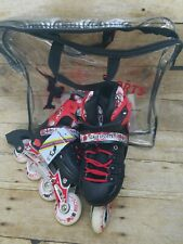 Adjustable Inline Skates Red/ Black / White size 13.5 made by Scale Sports, New