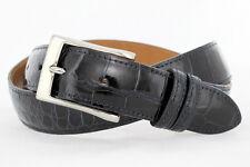 Genuine American Alligator navy glossy finish Custom handmade belt (Size 32-44)
