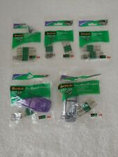 NEW! TWO (2) SCOTCH HANDBAND POP-UP TAPE DISPENSERS WITH TEN (8) REFILL PADS