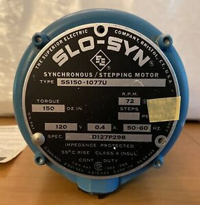 Superior Electric SS150-1077U Slo-Syn Synchronous Stepping Motor 120V, 0.4A; NOS