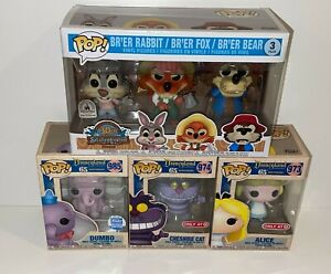 Funko Pop! Rides Disney Splash Mountain 3 Pack & Alice in Wonderland, Dumbo 65th