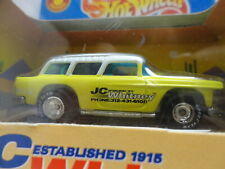 Hot Wheels Jc Whitney '55 Chevy Nomad Yellow 1955 w/Rr Real Rubber Tires